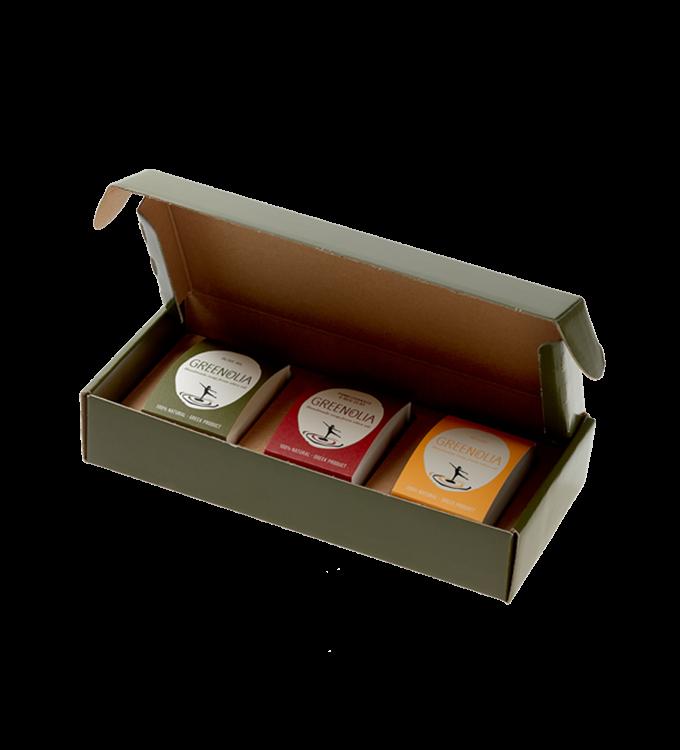 Χειροποίητο Σαπούνι 100g Greenolia - Handmade Soaps - Κουτί Δώρου - Greenolia